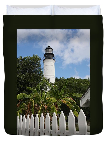A Sailoirs Guide On The Florida Keys Duvet Cover by Christiane Schulze Art And Photography