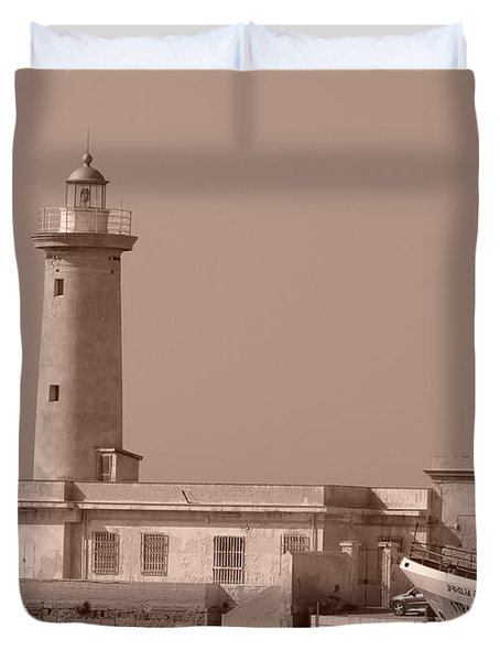 Lighthouse Marsala Duvet Cover