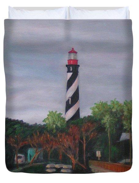 Lighthouse Morning Duvet Cover