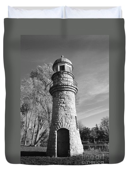 Lighthouse Of Stone Duvet Cover by Kathleen Struckle