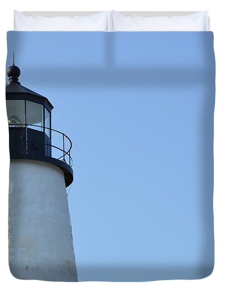 Lighthouse On Clear Day Duvet Cover