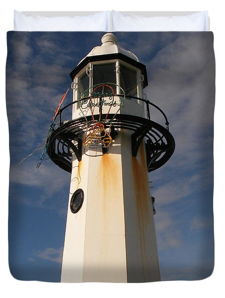 Lighthouse  Duvet Cover by Pixel  Chimp