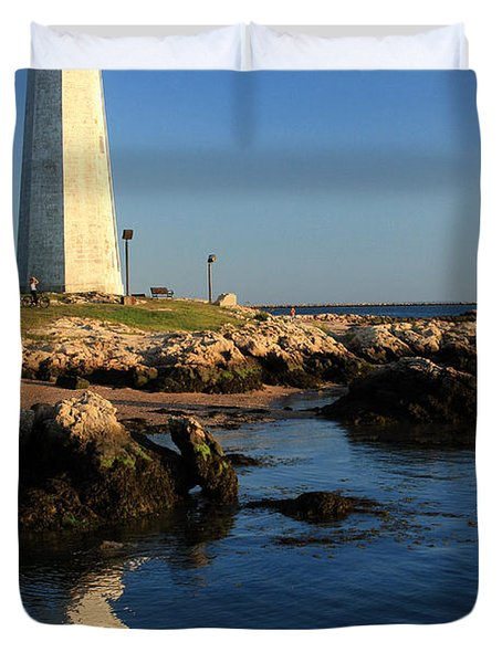 Lighthouse Reflected Duvet Cover by Karol Livote