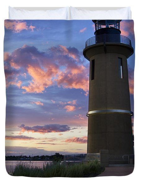 Duvet Cover featuring the photograph Lighthouse by Sonya Lang