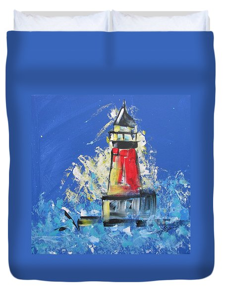 Lighthouse Splash Duvet Cover