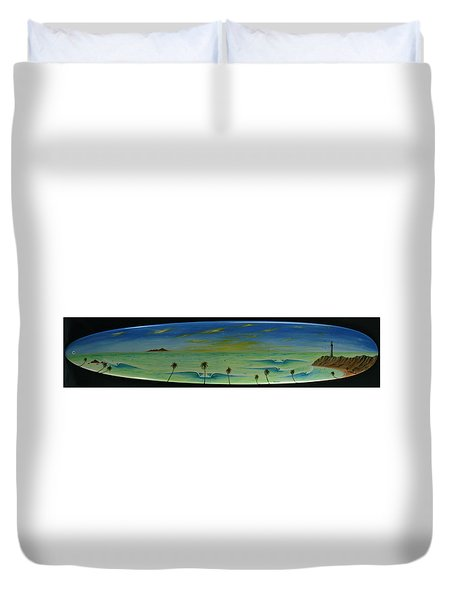 Lighthouse Surfers Cove Duvet Cover