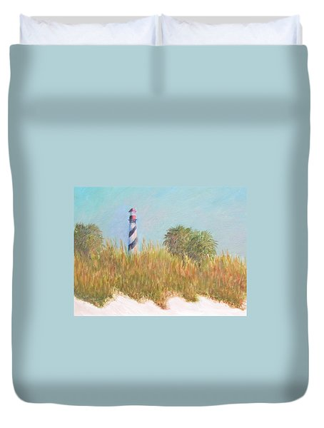 Lighthouse View From St. Augustine Beach Duvet Cover