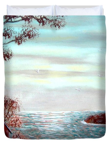 Lighthousekeepers Home Duvet Cover by Barbara Griffin