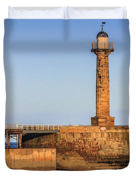 Lighthouses On The Piers Duvet Cover