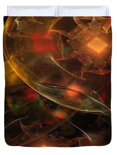 Lighting Decorations Duvet Cover by Klara Acel