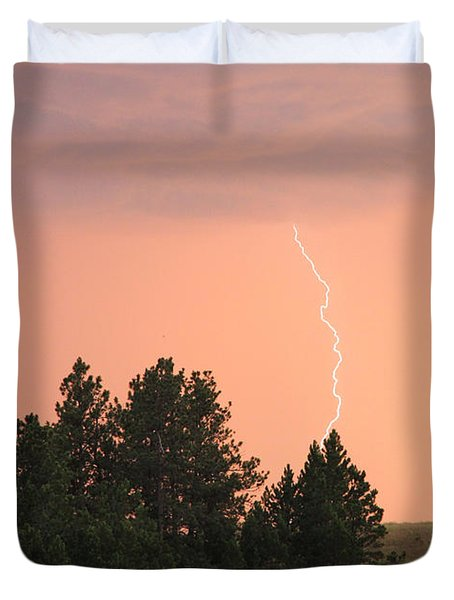 Duvet Cover featuring the photograph Lighting Strikes In Custer State Park by Bill Gabbert