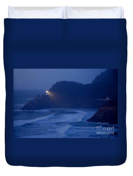 Duvet Cover featuring the photograph Lighting The Way by Nick  Boren