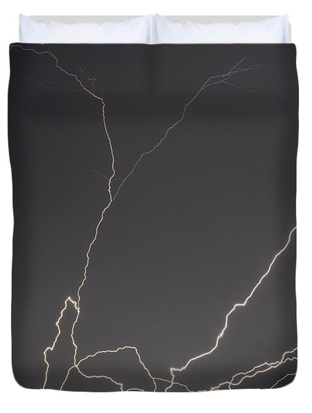 Lightning 6a Duvet Cover by Maggy Marsh