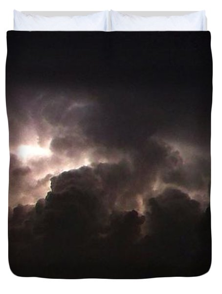 Duvet Cover featuring the photograph Lightning 7 by Richard Zentner