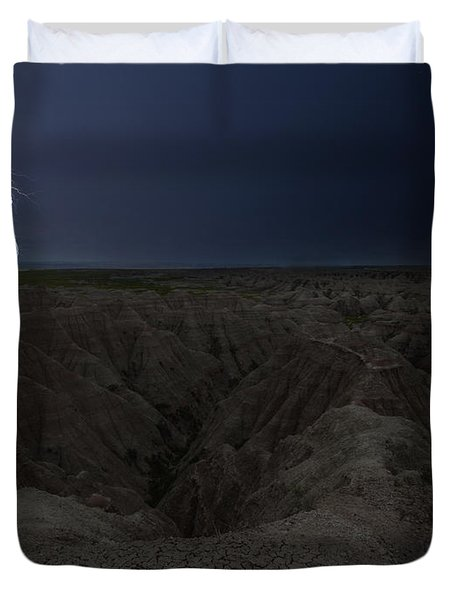 Lightning Crashes Duvet Cover
