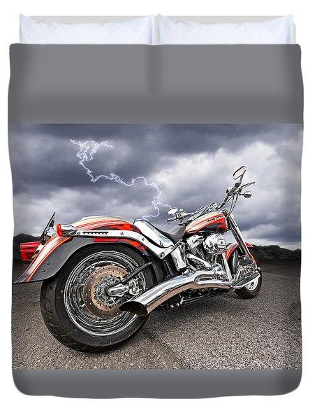 Lightning Fast - Screamin' Eagle Harley Duvet Cover