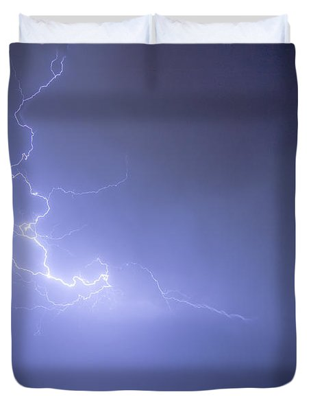 Lightning Goes Boom In The Middle Of The Night Duvet Cover by James BO  Insogna