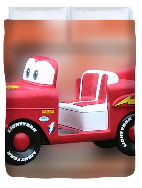 Lightning Mcqueen Duvet Cover by Thomas Woolworth