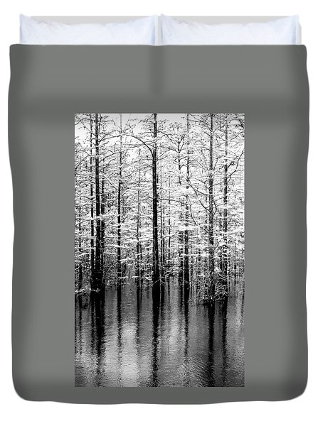 Lightning On The Wetlands Duvet Cover by Faith Williams