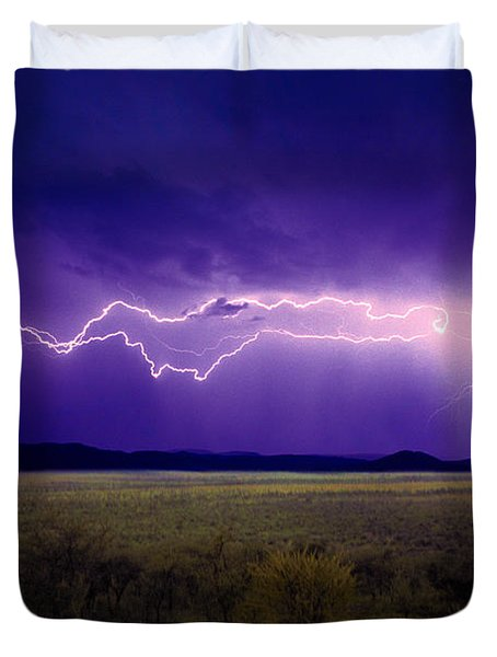 Lightning Serengeti Duvet Cover