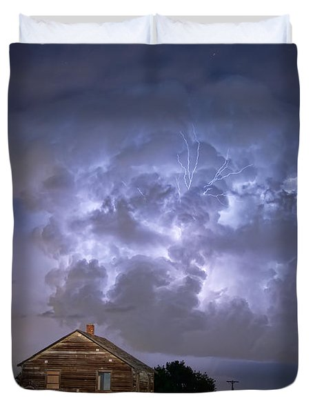 Lightning Thunderstorm Busting Out Duvet Cover by James BO  Insogna