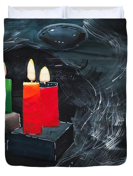 Lights Duvet Cover by Anil Nene