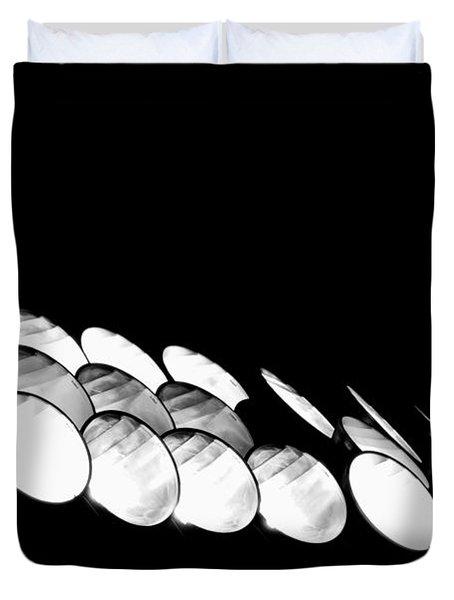 Duvet Cover featuring the photograph Lights Camera Action by Matt Harang