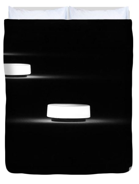 Lights In A Row Duvet Cover