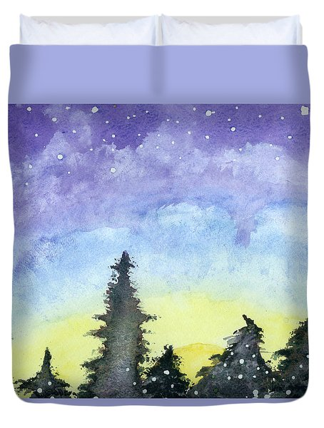 Lights Of Life Duvet Cover
