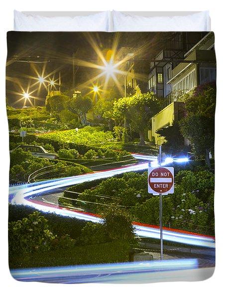 Lights On Lombard Duvet Cover