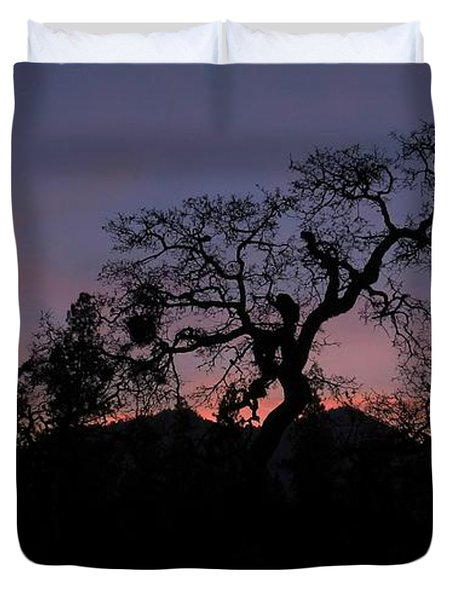 Duvet Cover featuring the photograph Lights Out by Julia Hassett
