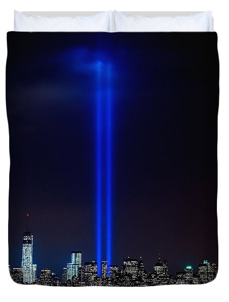 Lights Over Nyc Duvet Cover