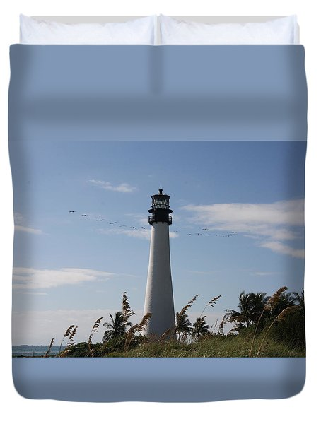 Ligthouse - Key Biscayne Duvet Cover by Christiane Schulze Art And Photography