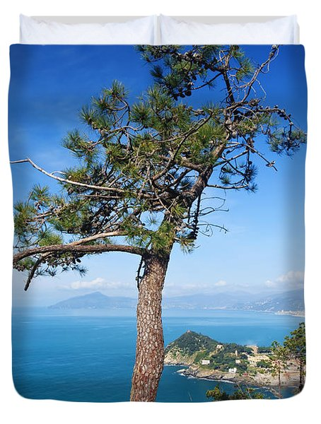 Duvet Cover featuring the photograph Liguria - Tigullio Gulf by Antonio Scarpi
