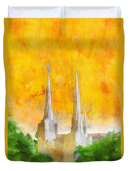 Like A Fire Is Burning Duvet Cover by Greg Collins