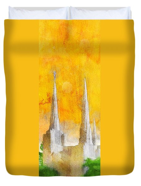 Like A Fire Is Burning - Panoramic Duvet Cover by Greg Collins