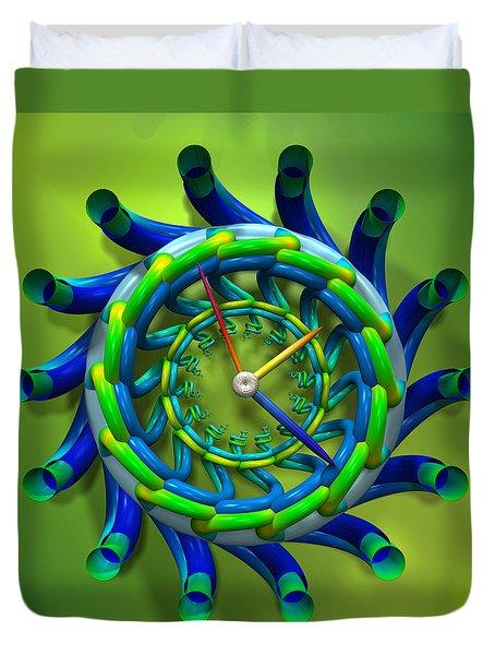 Like Clockwork Duvet Cover by Manny Lorenzo