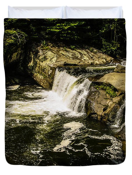 Lil Bald River Falls Duvet Cover by Marilyn Carlyle Greiner