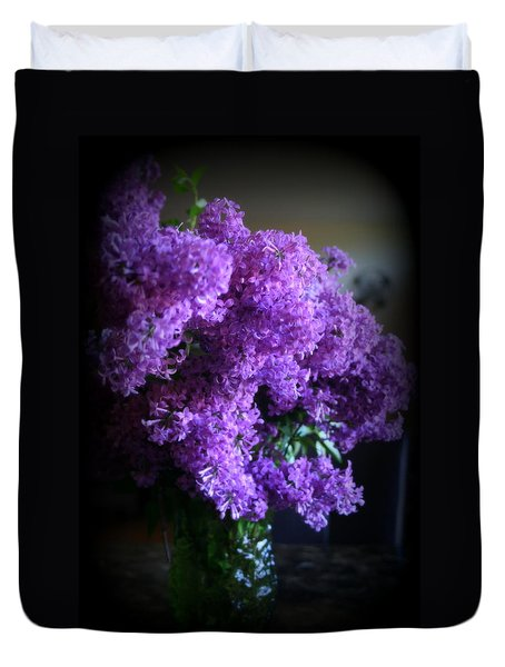 Lilac Bouquet Duvet Cover by Kay Novy