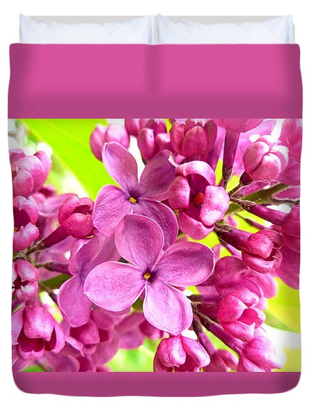 Lilac Closeup Duvet Cover by The Creative Minds Art and Photography