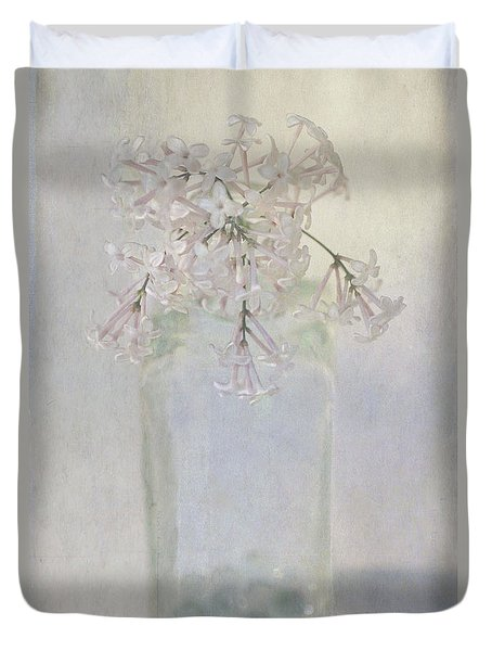 Duvet Cover featuring the photograph Lilac Flower by Annie Snel