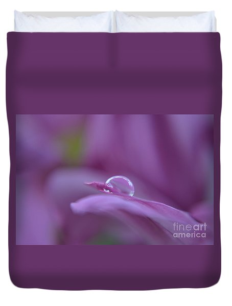 Duvet Cover featuring the photograph Lilac by Michelle Meenawong