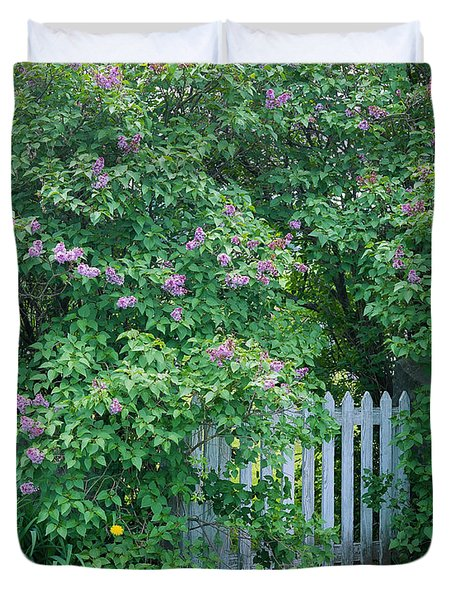 Duvet Cover featuring the photograph Lilac Season by Alan L Graham