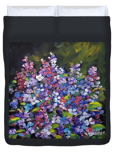 Lilac_burst_by_prankearts Duvet Cover by Richard T Pranke
