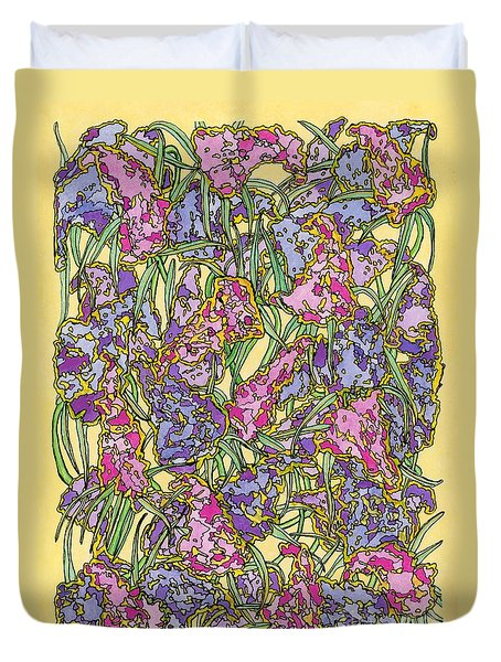 Lilacs Electric Duvet Cover by Mag Pringle Gire