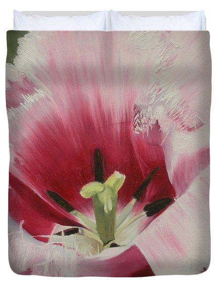 Lilicaea Tulipa Duvet Cover by Claudia Goodell