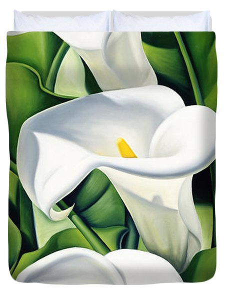 Lilies Duvet Cover by Catherine Abel
