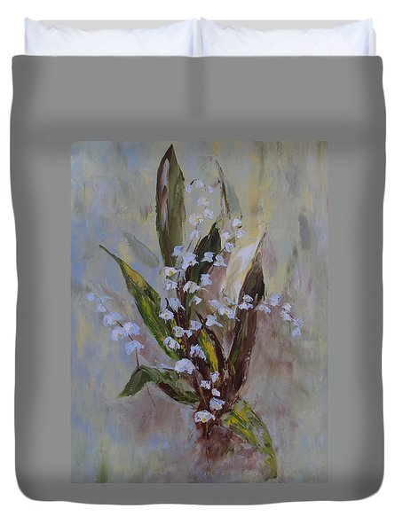 Lilies-of-the-valley Duvet Cover