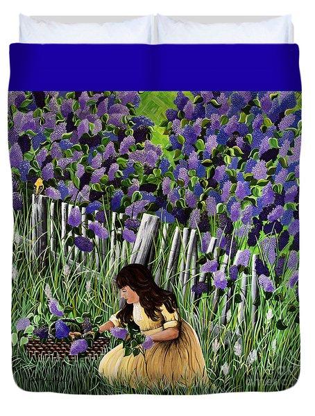 Lillian's Lilacs Duvet Cover