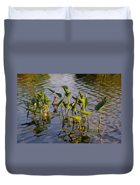 Lillies In Evening Glory Duvet Cover